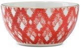 Threshold Plaid 4in Stoneware Dip Bowl Red
