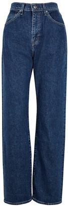 Levi's 701 Dark Blue Straight-leg Jeans