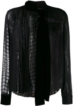 Sacai Sheer Pleated Blouse