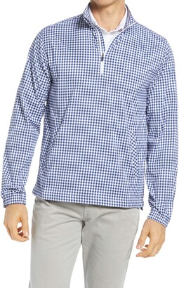 Southern Tide Gingham Intercoastal Quarter Zip Pullover