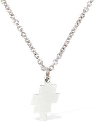 Marcelo Burlon County of Milan Distorted Cross Logo Long Chain Necklace