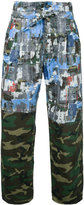 Taakk - camouflage straight trousers - men - Cotton - 1