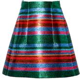 DELPOZO Striped Lurex Mini Skirt