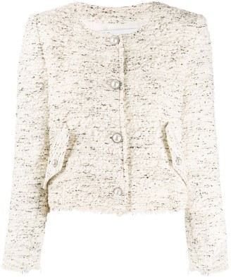 IRO Long Sleeved Fitted Boucle Jacket