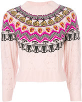 Temperley London cable Jacquard jumper