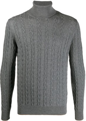 Eleventy Cable-Knit Wool Jumper