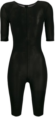 Alchemy sheer fitted playsuit