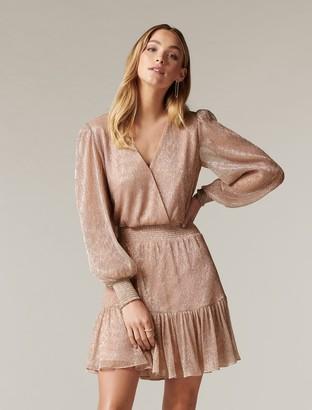 Forever New Perla Plisse Flippy Mini Dress - Blush - 10