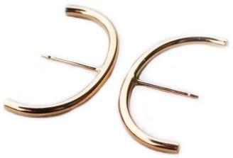 Minimalist Ear Suspension Hoop Gold