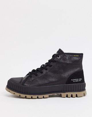 Palladium pallashock mid og leather sneakers in black