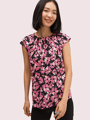 Kate Spade Floral Tie Neck Shell