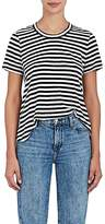 A.L.C. Women's Zia Striped Slub Linen T-Shirt
