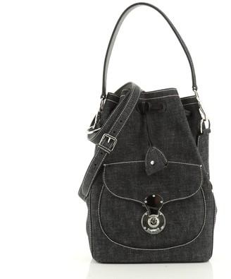 Ralph Lauren Ricky Drawstring Bag Denim Medium