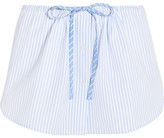 Alexander Wang Striped Cotton Shorts - Sky blue