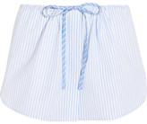Alexander Wang Striped Cotton Shorts - Sky blue