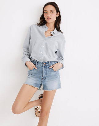 Madewell The Perfect Jean Short in Balsam Wash: TENCEL Denim Edition