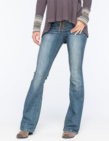 Vanilla Star Premium Lace Up Womens Flare Jeans