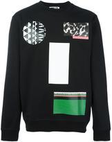 McQ by Alexander McQueen mixed print sweatshirt