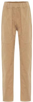 Brunello Cucinelli High-rise cotton skinny pants
