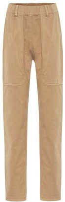 Brunello Cucinelli High-rise cotton skinny pants