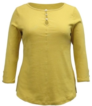 Karen Scott Plus Size Keyhole Top, Created for Macy's