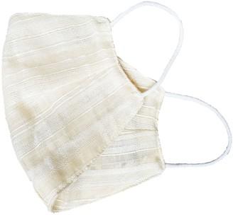 Haris Cotton Pack Of 3 Reusable Striped Cotton Face Masks - White Stripes