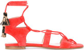 Stuart Weitzman tie around sandals - women - Leather/Suede/rubber - 36.5