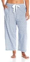 Nautica Women's Plus Size Jersey Knit Capri Pant