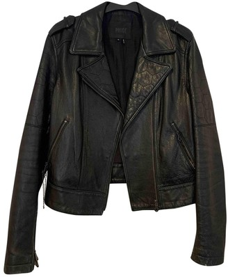 Paige Black Leather Jacket for Women