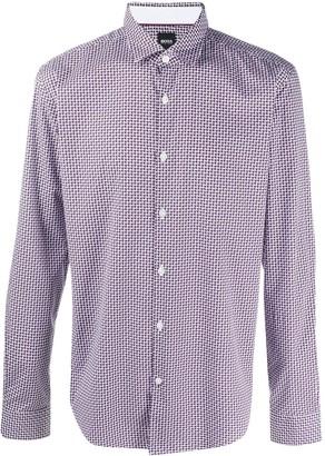 HUGO BOSS Abstract-Print Shirt