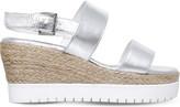 Carvela Kup metallic leather wedge sandals
