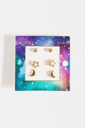 francesca's You're a Rising Star Stud Set - Gold