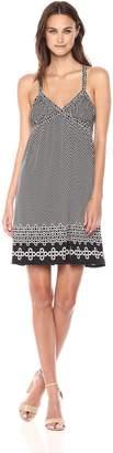 Max Studio Women's Cross Back Strappy Matte Jersey Dress