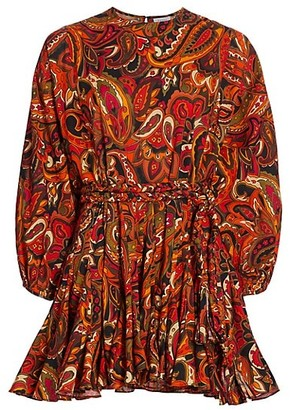 Rhode Resort Ella Paisley A-Line Dress