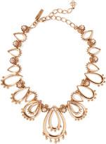 Oscar de la Renta Gold-tone crystal necklace
