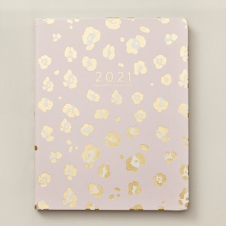 Eccolo 2020-2021 17-Month Agenda Gold Pink Leopard
