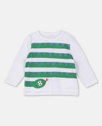 Stella Mccartney Kids Snake Stripes Cotton T-Shirt, Unisex