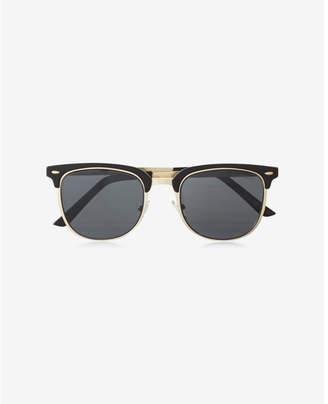 Express Black Browline Sunglasses