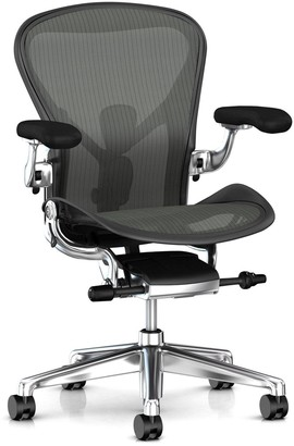 Herman Miller Aeron Office Chair, Graphite/Polished Aluminium