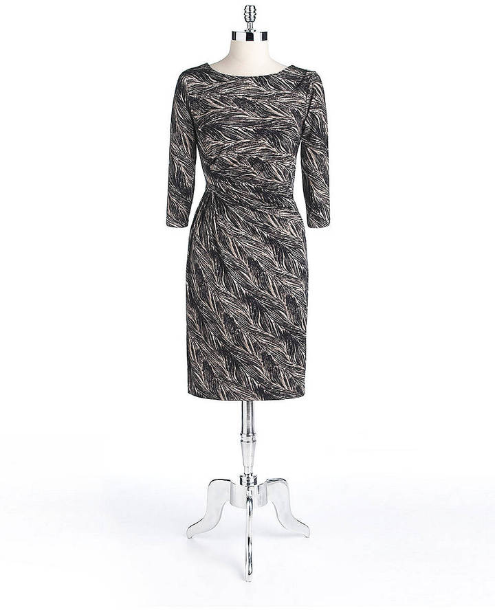 Anne Klein Long-Sleeved Knot Dress