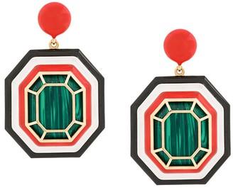 Nevernot Farfetch Exclusive 18kt yellow gold geometric drop earrings