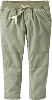 Osh Kosh Jersey-Lined Poplin Pants