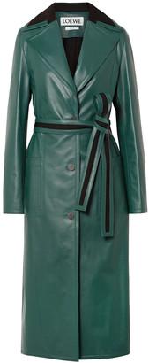 Loewe Oversized Paneled Leather Coat