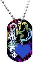 Body Candy Rainbow Coexist Dog Tag Necklace
