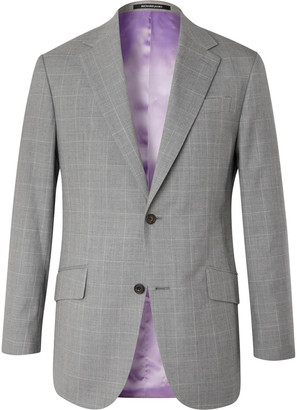 Richard James Checked Wool Suit Jacket