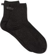 Kate Spade Women's Ribbed Sparkle Ankle Socks