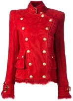 Balmain military-style lambskin jacket