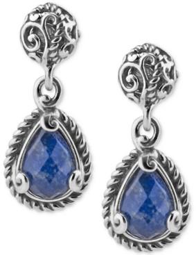 Carolyn Pollack Lapis Lazuli Doublet Drop Earrings (4-3/8 ct. t.w.) in Sterling Silver