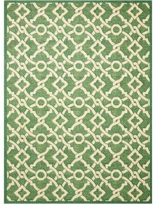 "Waverly Treasures Geometric Tufted Moss Area Rug Rug Size: Rectangle 2'6"" x 4'"