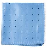 The Tie Bar Light Blue Satin Dot Pocket Square